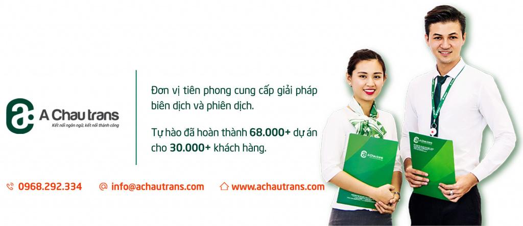 Công ty dịch thuật Á Châu